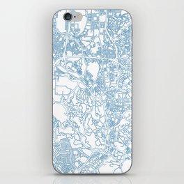 Street MAP Kuala Lumpur // Blue iPhone Skin