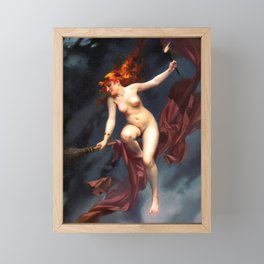 "Luis Ricardo Falero ""Muse of the Night (also known as The Witches Sabbath)"" Framed Mini Art Print"