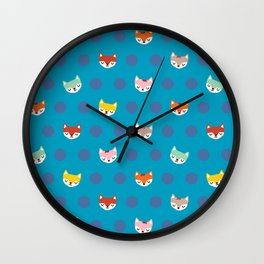 The Magical Foxes Wall Clock