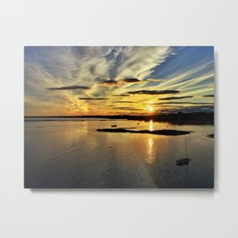 Summer Sunset in Kennebunkport, Maine Metal Print