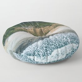 Waves, Woods, Wind and Water - Landscape Photography Floor Pillow