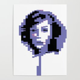 8 Bit Portrait of a Girl Poster