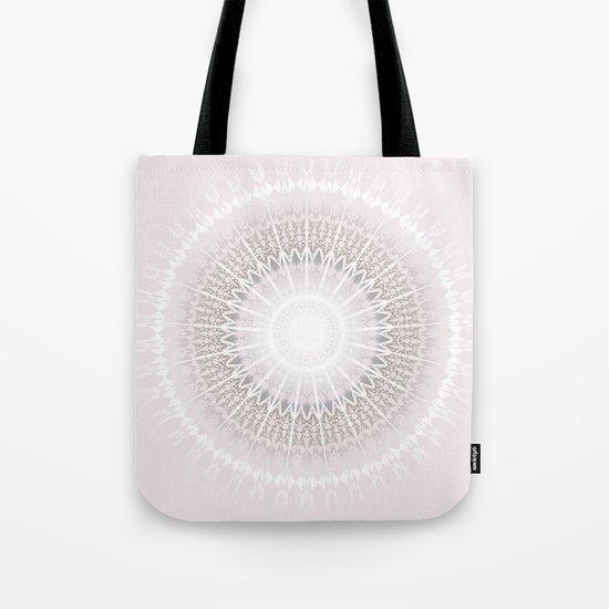 Pastel Gray Mandala Tote Bag