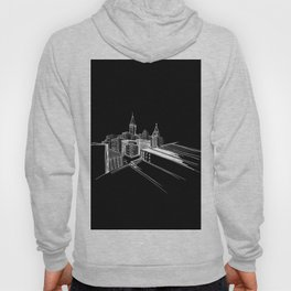 Vibrant City Black Background Hoody