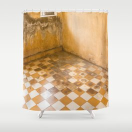 S21 Blood Stains - KhmerRouge, Cambodia Shower Curtain