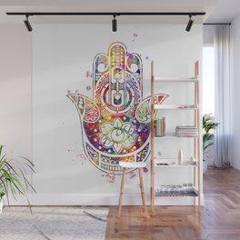 Hamsa Hand 2 Watercolor Poster Wedding Gift Wall Mural