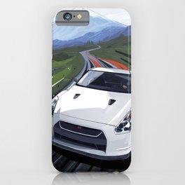 Skyline GT-R Race Car Illustration Art Print iPhone Case