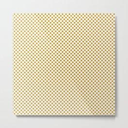 Nugget Gold Polka Dots Metal Print