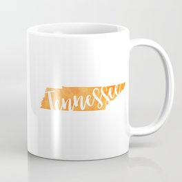 Tennessee Script Map Coffee Mug