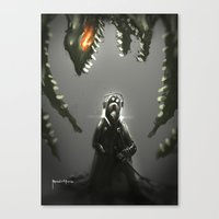 abyss Canvas Prints featuring Abyss by Benedick Bana