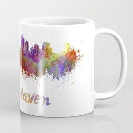 New Haven skyline in watercolor Coffee Mug