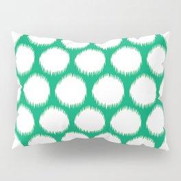 Jade Asian Moods Ikat Dots Pillow Sham