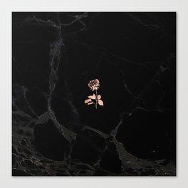 Forever Petal (Black Rose) Canvas Print