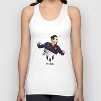 messi Tank Tops featuring Lionel Messi by Just Agung