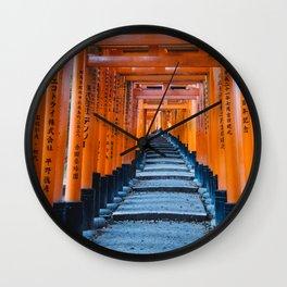 Fushimi Inari-taisha in Kyoto, Japan Wall Clock