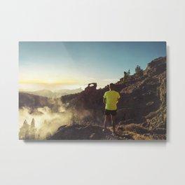 The runner Metal Print