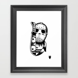 Halloween Jason Tattoo Flash Framed Art Print