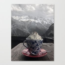 Black and White Cup Canvas Print