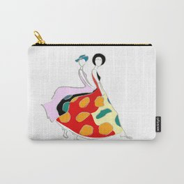Abstract illustration of two girls Carry-All Pouch