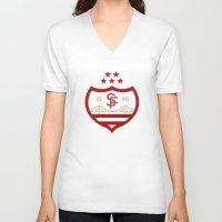 italian V-neck T-shirts featuring SFFC (Italian) by Football As Football