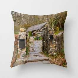 The Ugly House Snowdonia Throw Pillow