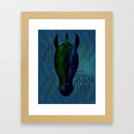 Cybernetic Zebra Framed Art Print