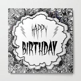 Goth happy birthday card Metal Print