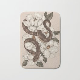 Snake and Magnolias Bath Mat