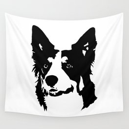 BORDER COLLIE DOG Wall Tapestry