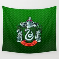 slytherin Wall Tapestries featuring SLYTHERIN  by Smart Friend
