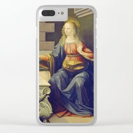 "Leonardo da Vinci ""Annunciation 2."" Clear iPhone Case"