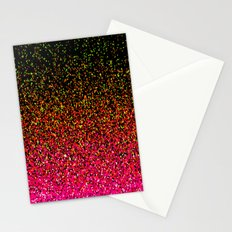 Confetti Glitter Sparkle Splatter Pink Orange Yellow Stationery Cards