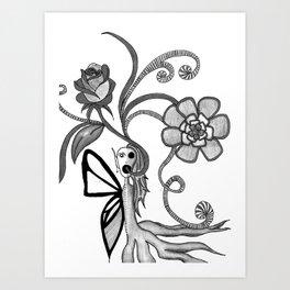 alien butterfly Art Print