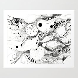 underwater belief Art Print