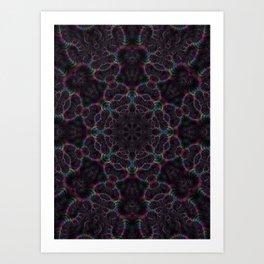Branching Rainbow Fractal Kaleidoscope 2 Art Print