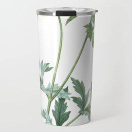 Nature, flower print, botanical illustration art of Welsh Poppy Travel Mug