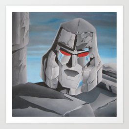 Transformers Megatron G1: It's Over Prime! Art Print