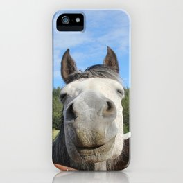 Horse Smile Photography Print iPhone Case