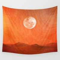desert Wall Tapestries featuring Desert by Viviana Gonzalez