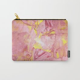 Pink and Gold Paint Carry-All Pouch