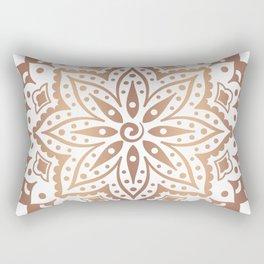 Dark copper tones mandala design Rectangular Pillow