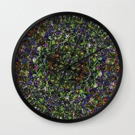 Bee in Flowers Wall Clock