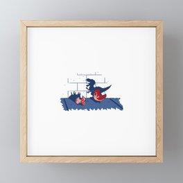 Forever Ferocious Framed Mini Art Print