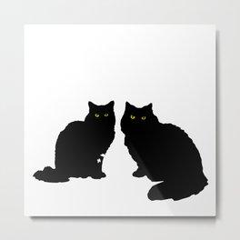 Black Pussies Metal Print