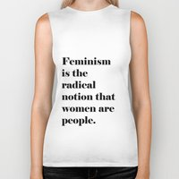 feminism Biker Tanks featuring Feminism  by Illustrated by Jenny