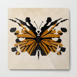 Rorschach Monarch Metal Print