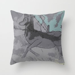 Under the Fence Throw Pillow