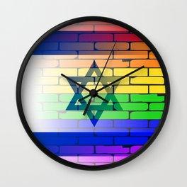 Gay Rainbow Wall Israel Flag Wall Clock