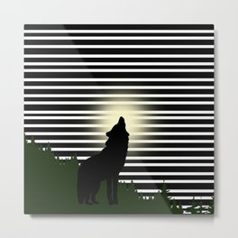 Howl like a wolf Metal Print