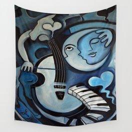 Black & Bleu Wall Tapestry